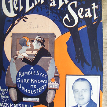 "Sheet Music,"" GET 'EM IN A RUMBLE SEAT""(1927) - Music Memorabilia"