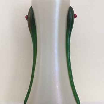 Kralik jewelled tadpole MOP vase - Art Glass