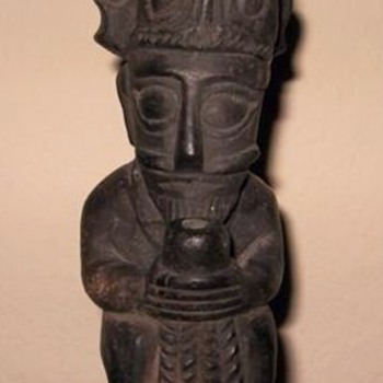 Carved Stone idol from Africa ? - Figurines