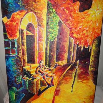 Seated Man Oil on Canvas - Fine Art