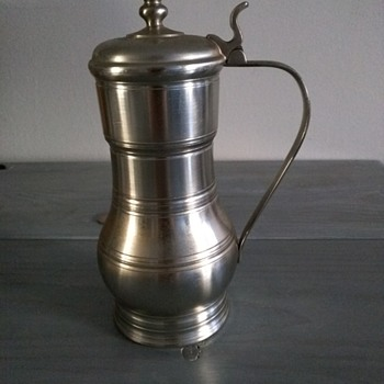 Vintage Pewter Beer Stein with Lid made in Holland by Metawa - Breweriana