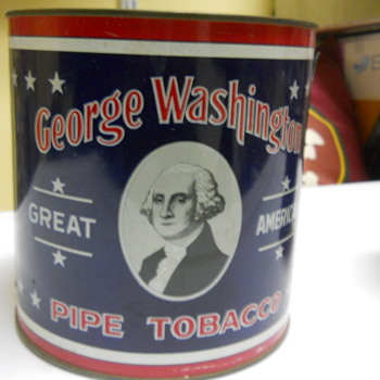 George Washington tobacco tin - Tobacciana