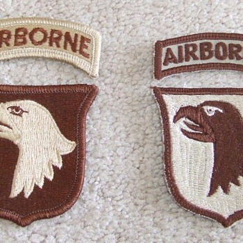 101st Patches from OEF/ OIF