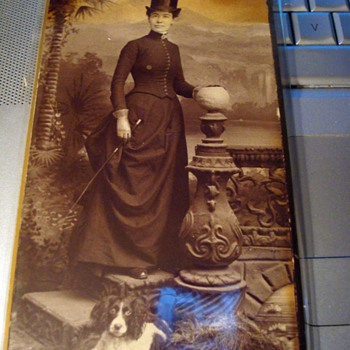 Cabinet Card - Ready for the Hunt! - Photographs