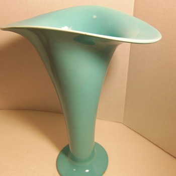 Vintage Ceramic Vase Turquoise Blue - Looking for info? - Pottery