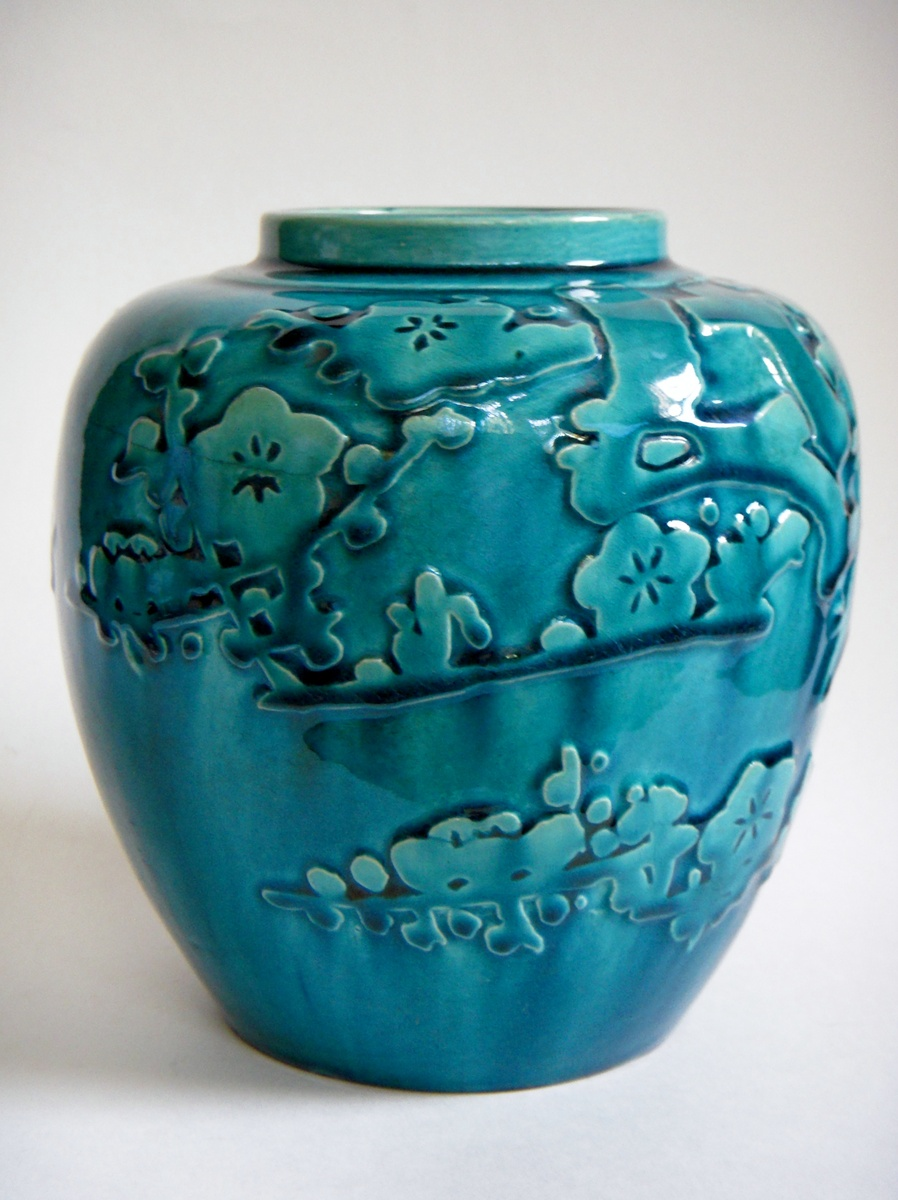Vintage japanese pottery vase with relief design collectors weekly reviewsmspy