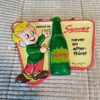 1956 Squirt soda sign - Signs