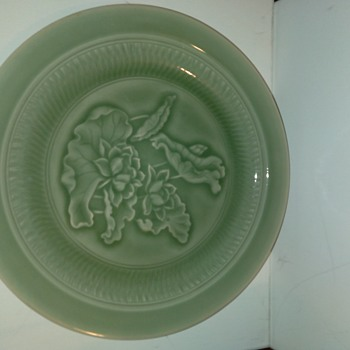 Chinese or Japanese Celadon Charger - Asian