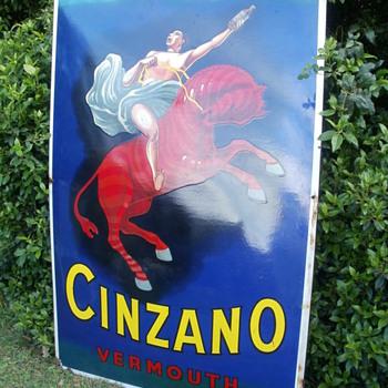 Cinzano enamel  no restored sign - Signs