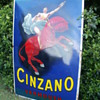 Cinzano enamel  no restored sign