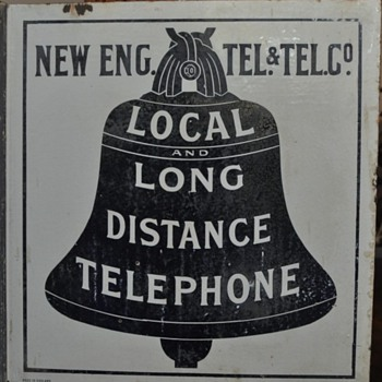 Early New England Telephone & Telegraph Company flange made in England