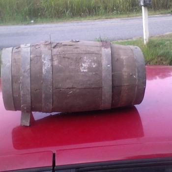 Old wooden keg