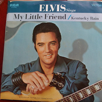"1970 Elvis Presley ""Kentucky Rain"" and ""My Little Friend"" 45rpm - Records"