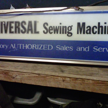 Universal Sewing Machine Sign (Lites up) - Signs