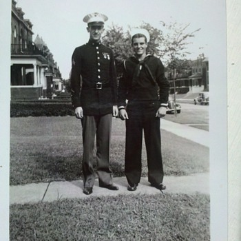 "WWII snap shots, guys from ""the old neighborhood""....2"" X 3"""