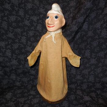 "Vintage Madame Alexander Composite Hand Puppet Charles ""Chef"" - Dolls"