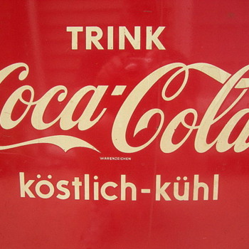 Can any one tell me about this German Coke Machine/Cooler - Coca-Cola