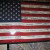 2003 R.O.T.C. signed flag 30 x 60