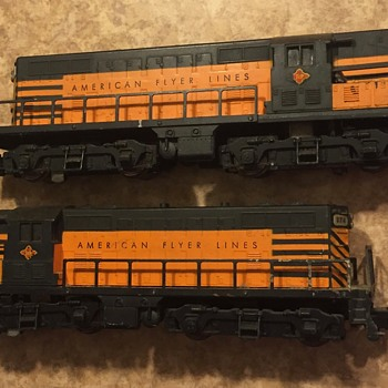 These are a pair of American flyer Diesel Engines - Model Trains