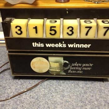 Schaefer Beer - With Winning Numbers on top