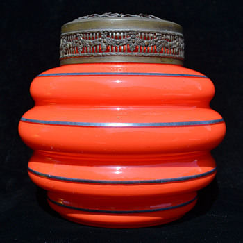 Tango posy vase with arranger - Art Glass