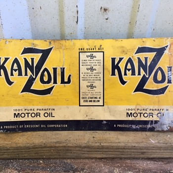 KanZoil oil can  - Petroliana
