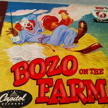 BOZO ON THE FARM RECORD BOOK - Books