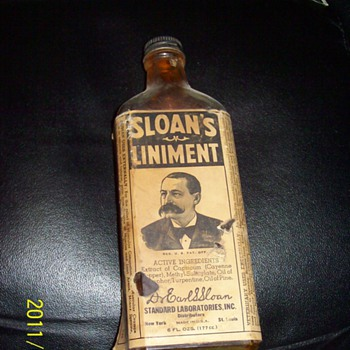Sloan's Liniment 1/2 full with the liniment