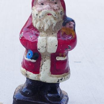 "4.5"" tall Cast Iron Santa - Is it a Hubley? - Christmas"