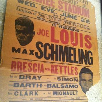 1938 JOE LOUIS Fight heard Around the World - Advertising