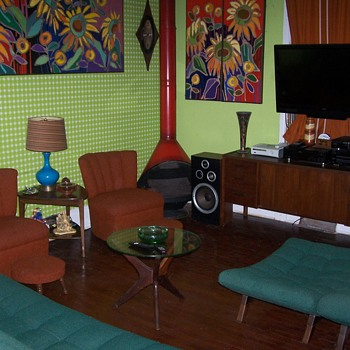 Vintage Mid Century Living Room Adrian Pearsall  - Furniture
