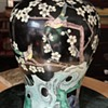 Famille Noir Meiping Jar with Magpies in a Prunus