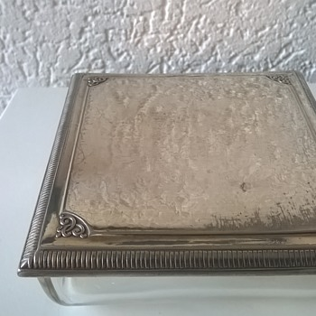 Antique WMF Silver Plate Cigarette Box Flea Market Find 2 Euro ($2.16) - Art Nouveau