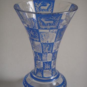 Vintage/Antique Bohemian vase? - Art Glass
