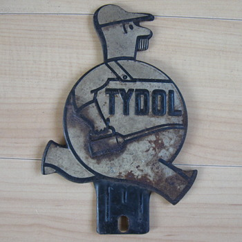 1940-1950 TYDOL License Plate Topper