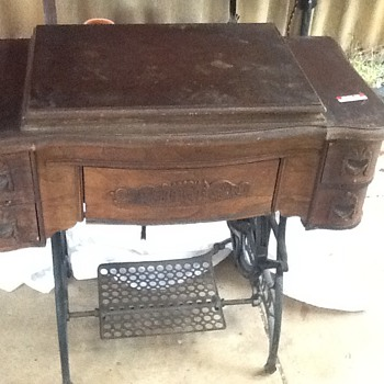 White Family Rotary Treadle Sewing Machine pre-renovation