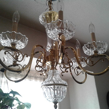 Crystal chandelier. - Lamps
