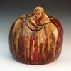 1893 Dalpayrat & Voisin-Delacroix Large Grotesquerie/Symbolist Sang de Boeuf Glazed Stoneware Vase
