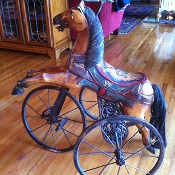 wooden Tricycle - Folk Art