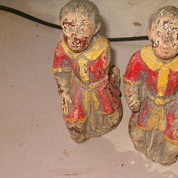Antique Very Old Kneeling Knights(England)? - Figurines