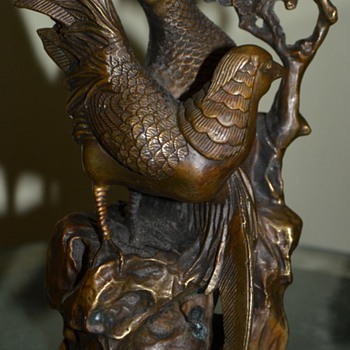 Bronze Pair of Pheasants - old? - Asian