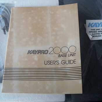 Kaypro 2000 Base Unit Part # 81-041 Original Box 1980's Docking Station