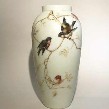 Harrach bird vase - Art Glass