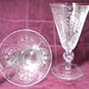 Etched Crystal Goblets and Dessert Bowls