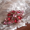 1950s Rhinestone paste brooch