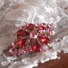 1950s Rhinestone paste brooch