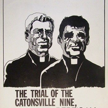 TRIAL of the CATONSVILLE NINE - (Father) Daniel BERRIGAN, 1971 Santa Clara Theatre Poster - Posters and Prints