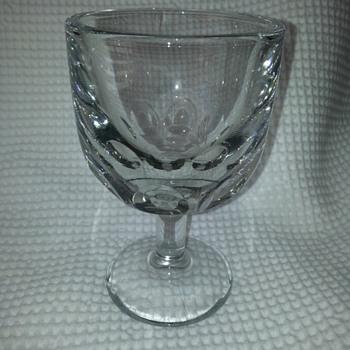 """GLASS GOBBLET SIGN """"E"""" - Glassware"""