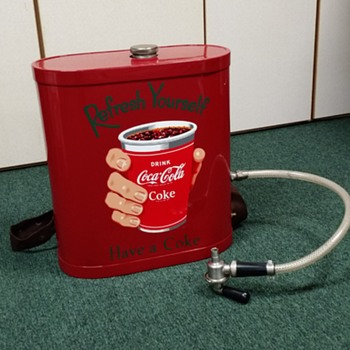Coca Cola Drink back pack Dispenser  - Coca-Cola
