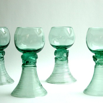 antique glass wine ROEMER early 19th century